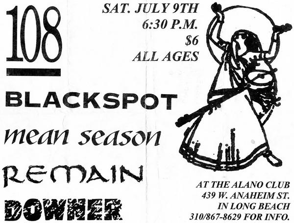 108-Blackspot-Mean Season-Remain-Downer @ Alano Club Long Beach CA 7-9-94