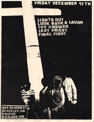 Lights Out-The Answer-Look Back & Laugh-Last Priest-Final Fight @ Gilman St. Berkeley CA 12-17-04