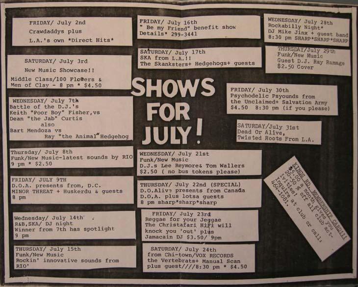 International Blend San Diego CA July 1982