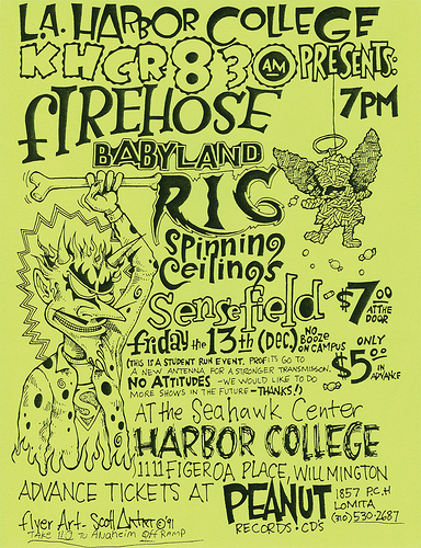 fIREHOSE-Rig-Babyland-Spinning Ceiling-Sensefield @ Harbor College Wilmington CA 12-13-91
