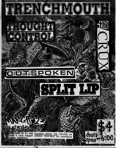 Trenchmouth-Thought Control-The Crux-Outspoken-Split Lip @ Classic Motor Inn Indianapolis IN 3-23-91
