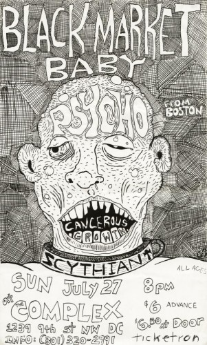 Black Market Baby-Psycho-Cancerous Growth @ The Complex Washington DC 7-27-80