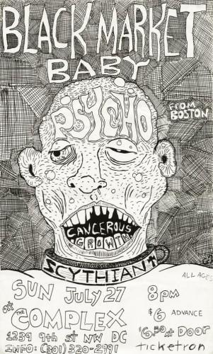 Black Market Baby-Psycho-Cancerous Growth @ The Complex Washington DC 7-27-80