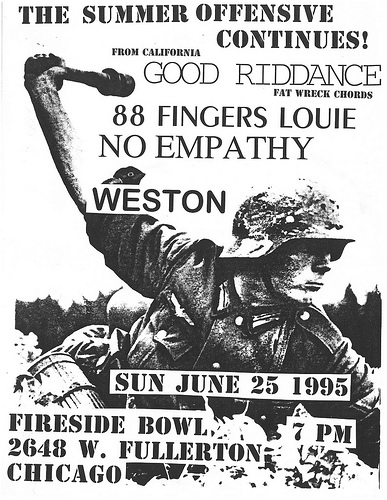 Good Riddance-88 Fingers Louie-No Empathy-Weston @ Fireside Bowl Chicago IL 7-25-95