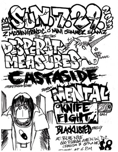 Desperate Measures-Cast Aside-Mental-Knife Fight-Blacklisted @ Blue Nile Washington DC 7-29-03
