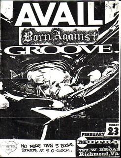 Avail-Born Against-Groove @ Metro Richmond VA 2-23-92