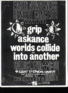 Worlds Collide-Askance-Grip-Into Another @ St. Stephens Church Washington DC 10-17-92