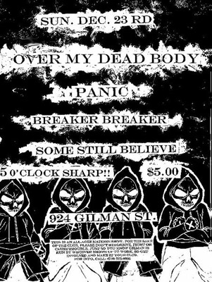 Over My Dead Body-Panic-Breaker Breaker-Some Still Believe @ Gilman St. Berkeley CA 12-23-01