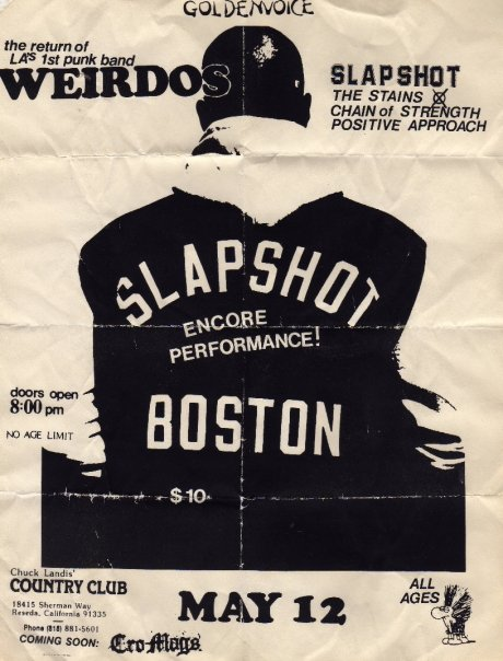 Weirdos-Slapshot-The Stains-Chain of Strength-Positive Approach @ The Country Club Reseda CA 5-12-89