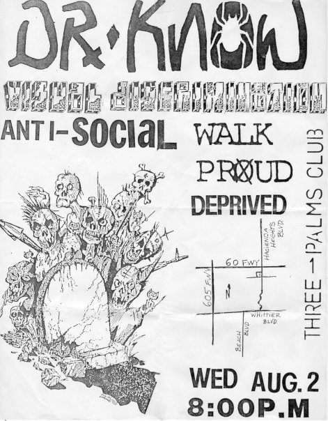 Dr. Know-Visual Discrimination-Anti Social-Walk Proud-Deprived @ Three Palms Club Hacienda CA 8-2-89