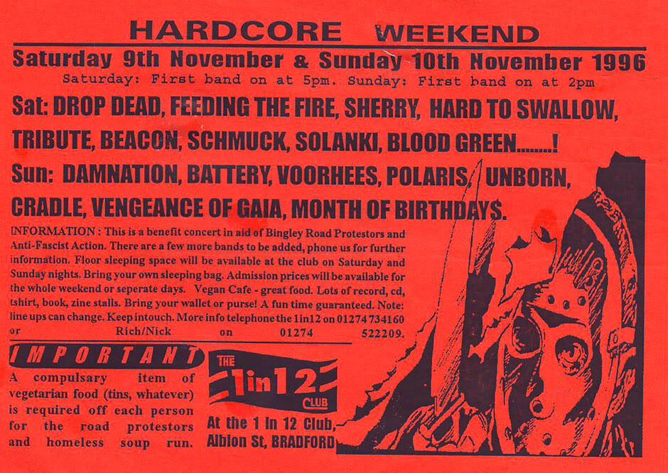 Hardcore Weekend 1 in 12 Club Bradford England November 1996
