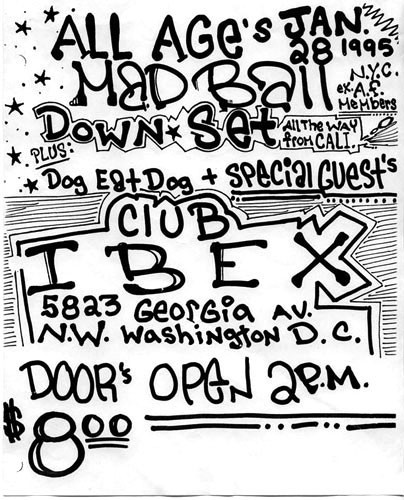 Madball-Dog Eat Dog-Downset @ Club Ibex Washington DC 1-28-95