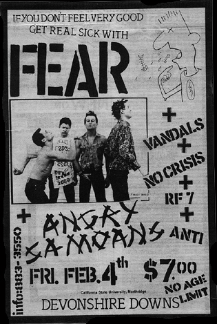 Fear-No Crisis-Vandals-RF7-Anti-Angry Samoans @ Devonshire Downs Northridge CA 2-4-83