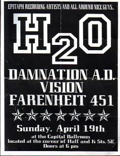 Damnation AD-h2o-Vision-Fahrenheit 451 @ Capital Ballroom Washington DC 4-19-98