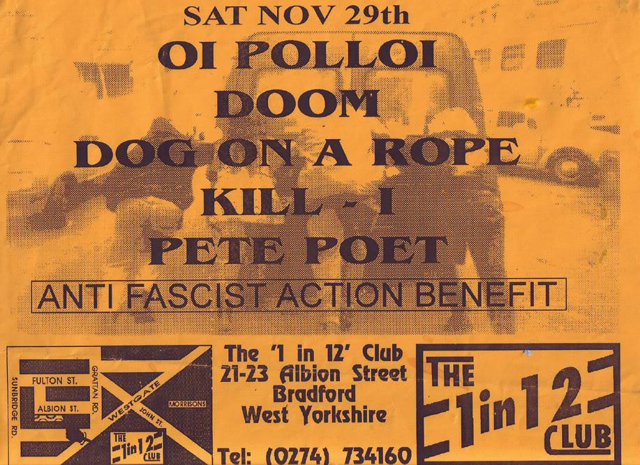 Oi Polloi-Doom-Dog On A Rope-Kill I-Pete Poet @ 1 in 12 Club Bradford England 11-29-97