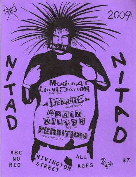 Moderat Likvidation-Detonate-Brain Killer-Perdition @ ABC No Rio New York City NY 11-14-09