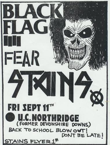 Black Flag-Fear-Stains @ U.C. Northridge Los Angeles CA 9-11-81