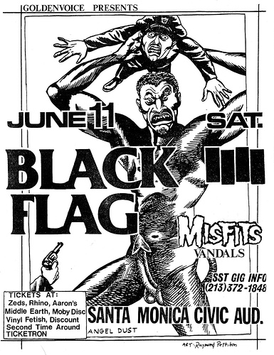 Black Flag-Misfits-Vandals @ Santa Monica Civic Auditorium Santa Monica CA 6-11-83