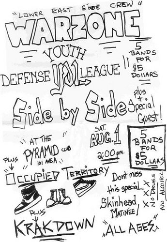 War Zone-YDL-Side By Side-Krakdown-Occupied Territory @ Pyramid Club New York City NY 8-1-87