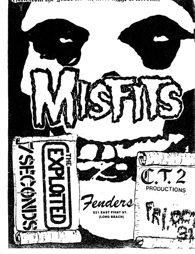 The Exploited-7 Seconds-Misfits @ Fenders Long Beach CA 10-31-81