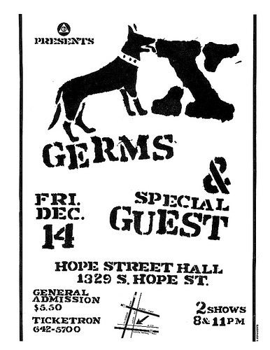 X-The Germs @ Hope Street Hall Los Angeles CA 12-14-78