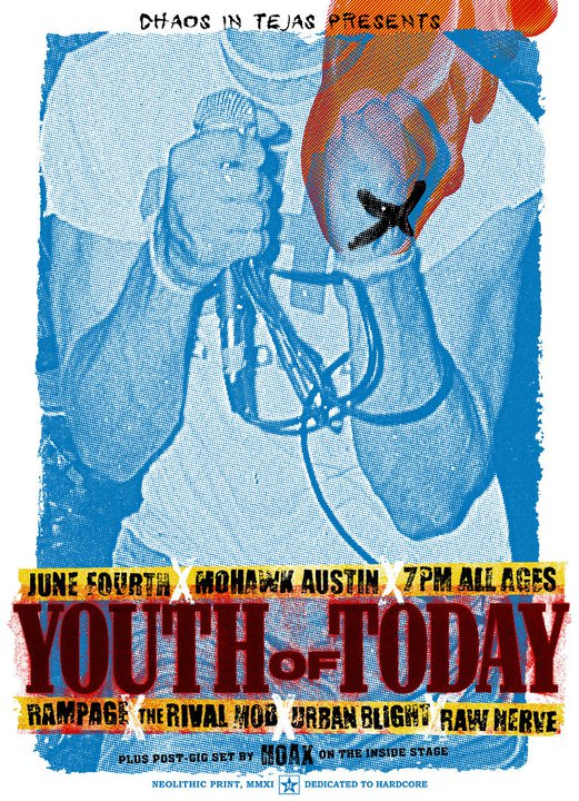 Youth Of Today-Rampage-The Rival Mob-Urban Blight-Raw Nerve @ Mohawk Austin TX 6-4-11