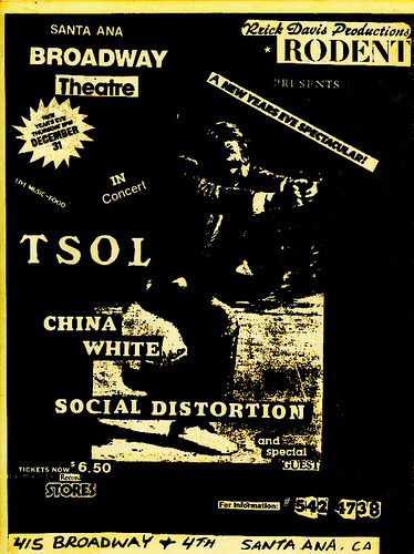 TSOL-China White-Social Distortion @ Broadway Theatre Santa Ana CA 12-31-81