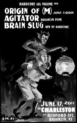 Origin Of M-Agitator-Brain Slug @ The Charleston Brooklyn NY 6-17-11