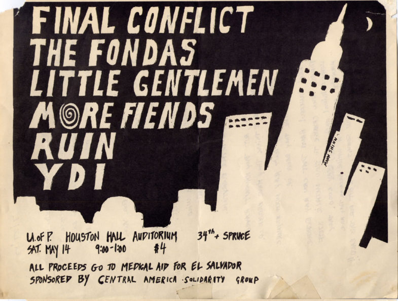 Final Conflict-The Fondas-Little Gentlemen-More Fiends-Ruin-YDI @ University of Pennsylvania Philadelphia PA 5-14-83