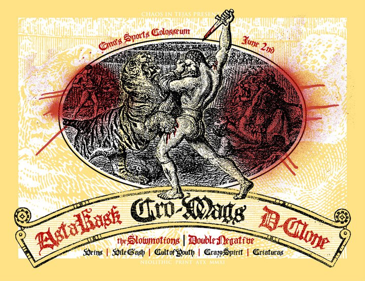 Cro Mags-Asta Kask-D Clone-The Slowmotions-Double Negative-Vile Gash-Cult Of Youth-Crazy Spirit @ Emo's Austin TX 6-20-11