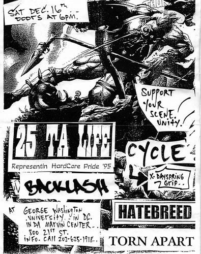 25 Ta Life-Cycle-Backlash-Hatebreed-Torn Apart @ George Washington University Washington DC 12-16-95