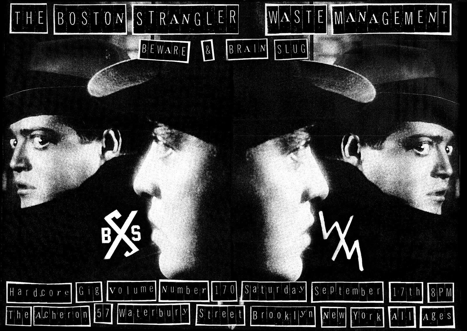 Boston Strangler-Waste Management-Beware-Brain Slug @ The Archeron Brooklyn NY 9-17-11