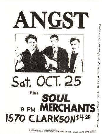 Angst-Soul Merchants @ Denver CO 10-25-86