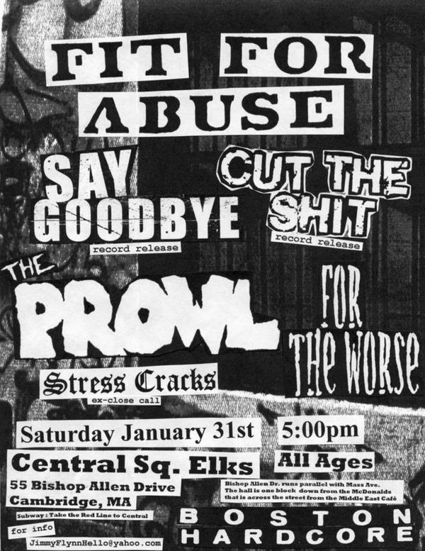 Fit For Abuse-Say Goodbye-Cut The Shit-The Prowl-For The Worse-Stress Cracks @ Central Square Elks Cambridge MA 1-31-04