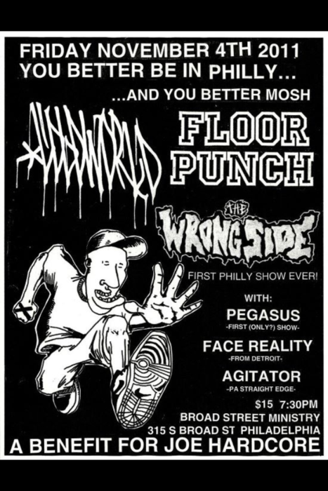 Floorpunch-Cold World-The Wrongside-Pegasus-Face Reality-Agitator @ Broad Street Ministry Philadelphia PA 11-4-11