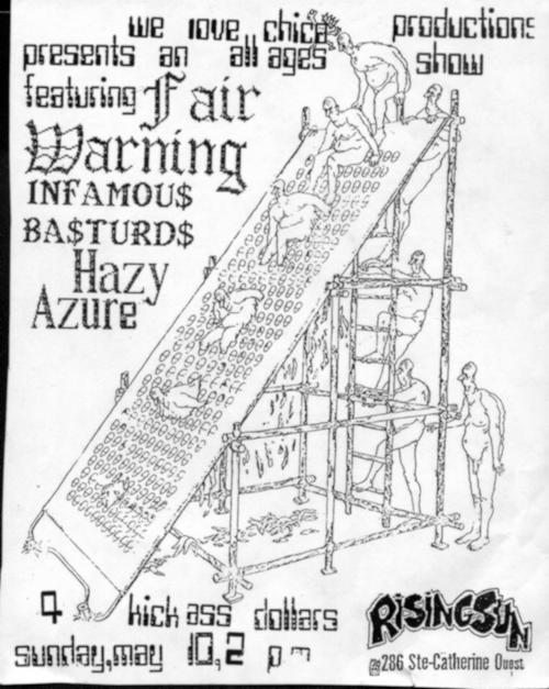 Fair Warning-Infamous Bastards-Hazy Azure @ Rising Sun Montreal Canada 5-10-87