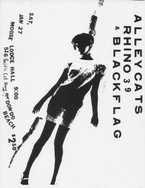 Alleycats-Rhino 39-Black Flag @ Lodge Hall Redondo Beach CA 1-27-79