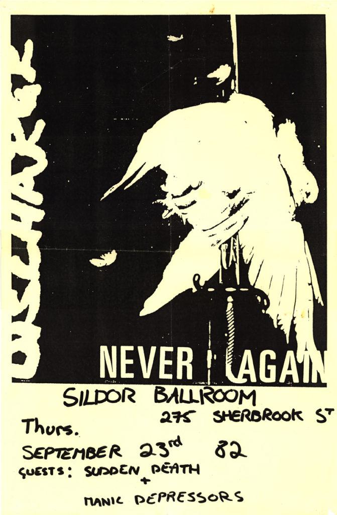 Discharge-Sudden Death-Manic Depressors @ Sildor Ballroom St. Louis MO 9-23-82