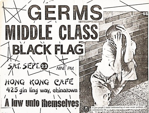 The Germs-Middle Class-Black Flag @ Hong Kong Cafe Los Angeles CA 9-22-79