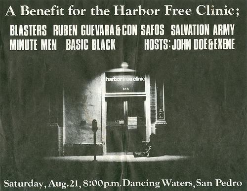 Blasters-Minutemen-Basic Black-Salvation Army @ Dancing Waters San Pedro CA 8-21-82