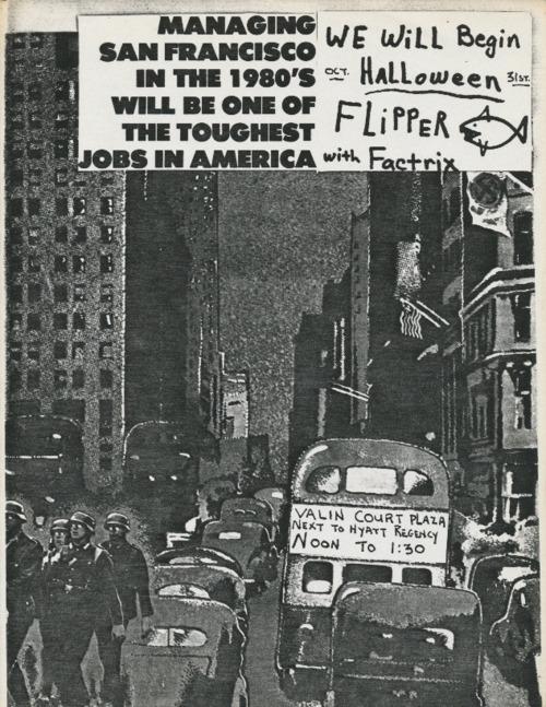 Flipper-Factrix @ Valin Court Plaza San Francisco CA 10-31-79