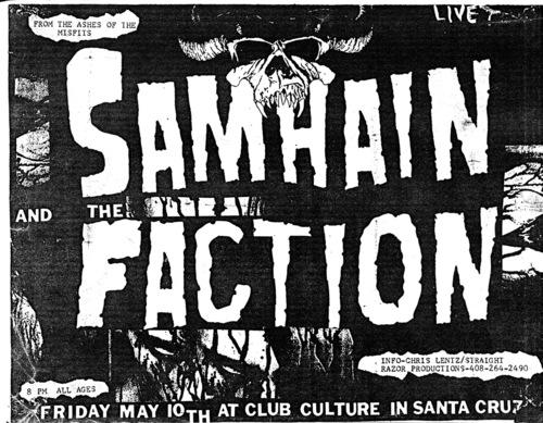 Samhain-The Faction @ Club Culture Santa Cruz CA 5-10-84