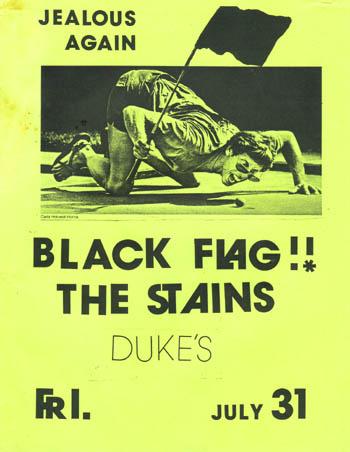 Black Flag-The Stains @ Duke's 7-31-81