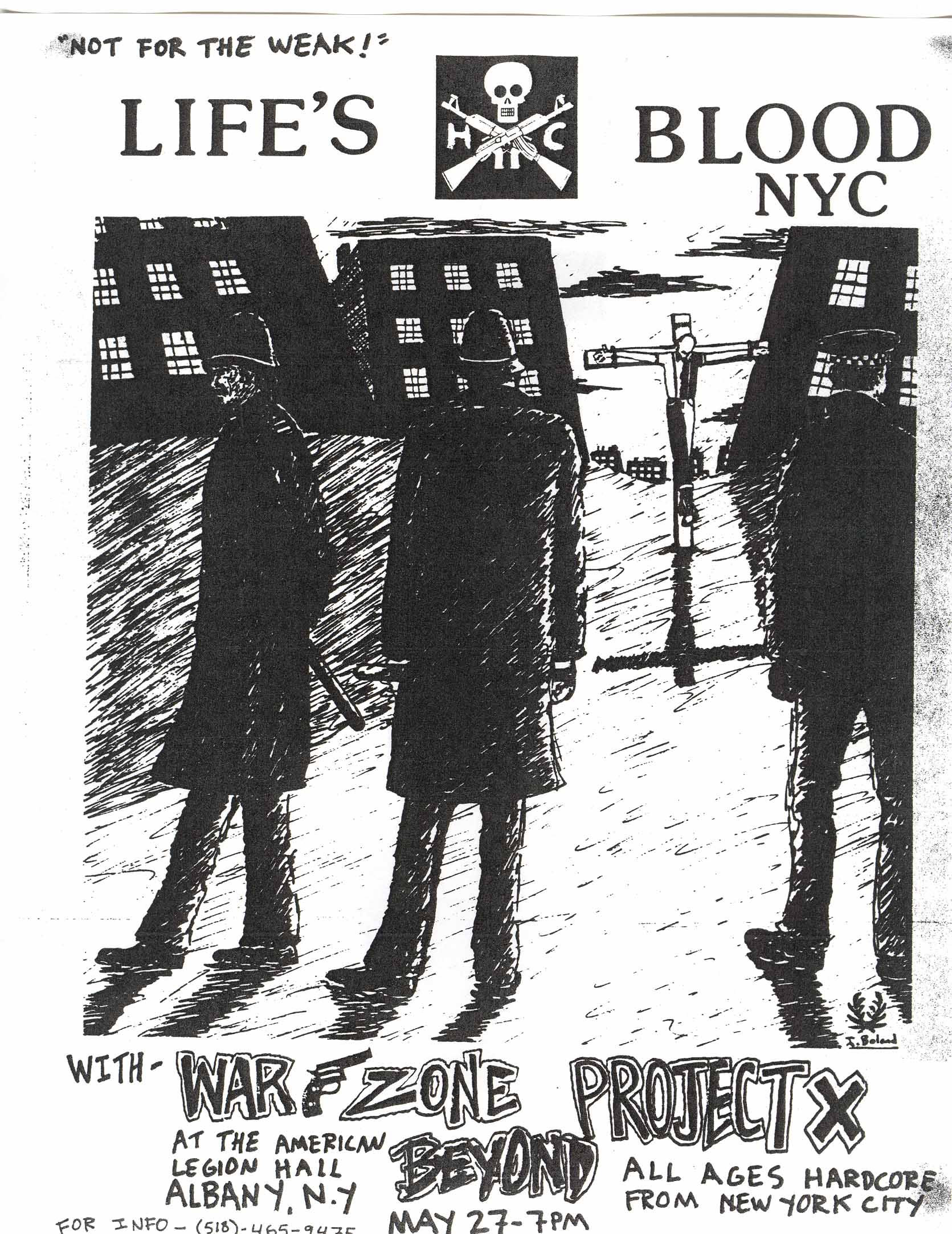 Life's Blood-War Zone-Beyond-Project X @ American Legion Hal New York City NY 5-27-88