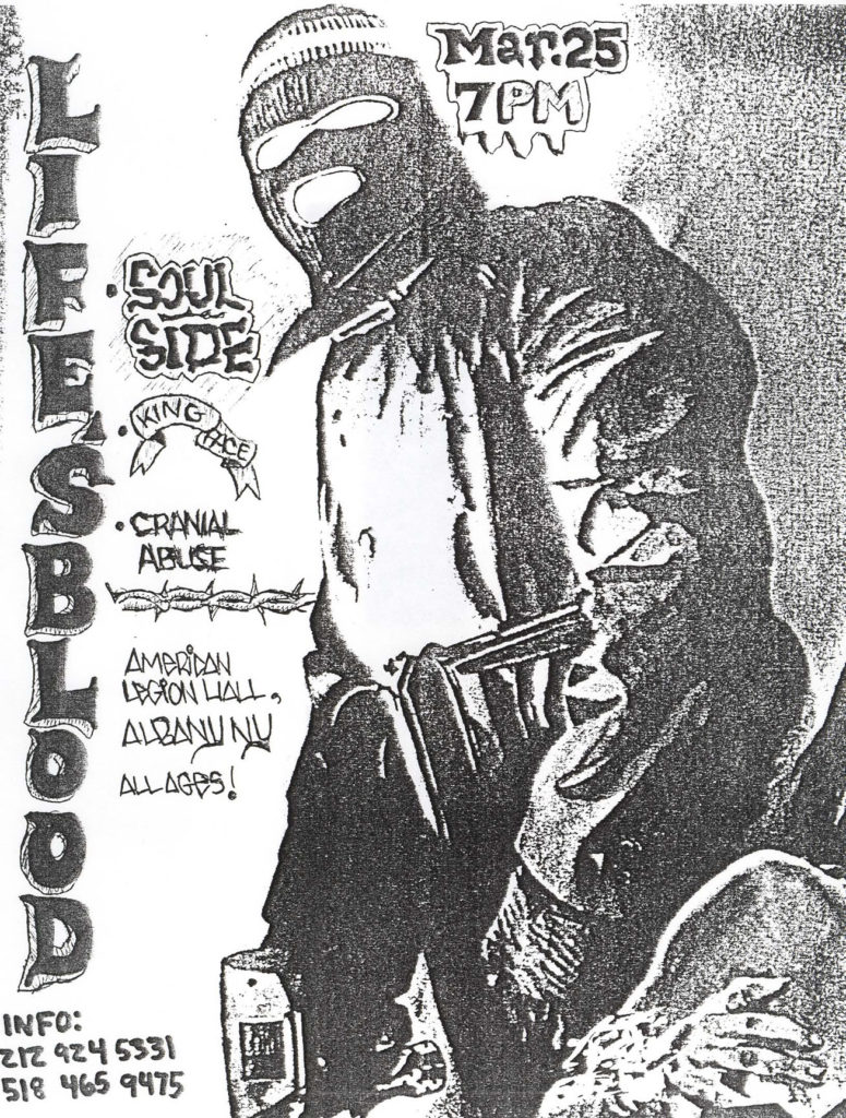 Life's Blood-Soulside-King Face-Cranial Abuse @ American Legion Hall Albany NY 3-25-88