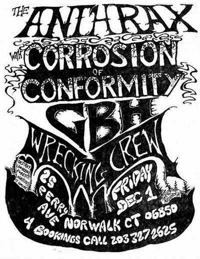 Corrosion Of Conformity-GBH-Wrecking Crew @ Anthrax Norwalk CT 12-1-89