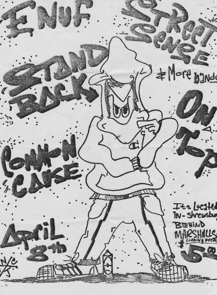 Enuf-Street Sense-Stand Back-On Top-Common Cause @ Shrewsbury NJ 4-8-88