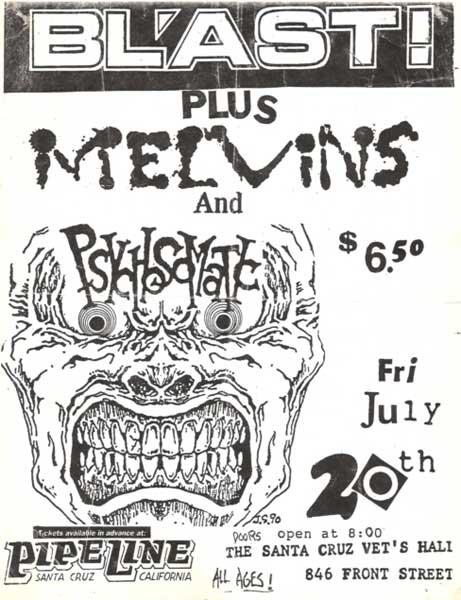 Bl'ast!-Melvins-Psychosomatic @ Santa Cruz VFW Santa Cruz CA 7-20-84