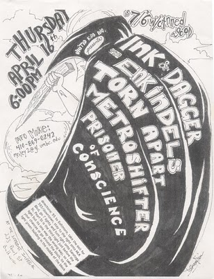 Ink & Dagger-The Enkindels-Torn Apart-Metroshifter-Prisoner Of Conscience @ Baltimore MD 4-16-98