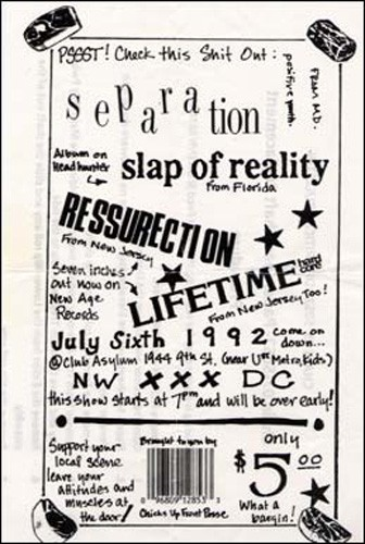 Separation-Slap Of Reality-Ressurection-Lifetime @ Club Asylum Washington DC 7-6-92